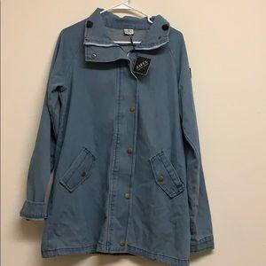 NWT Woman's Zaful Denim Jacket Size XL
